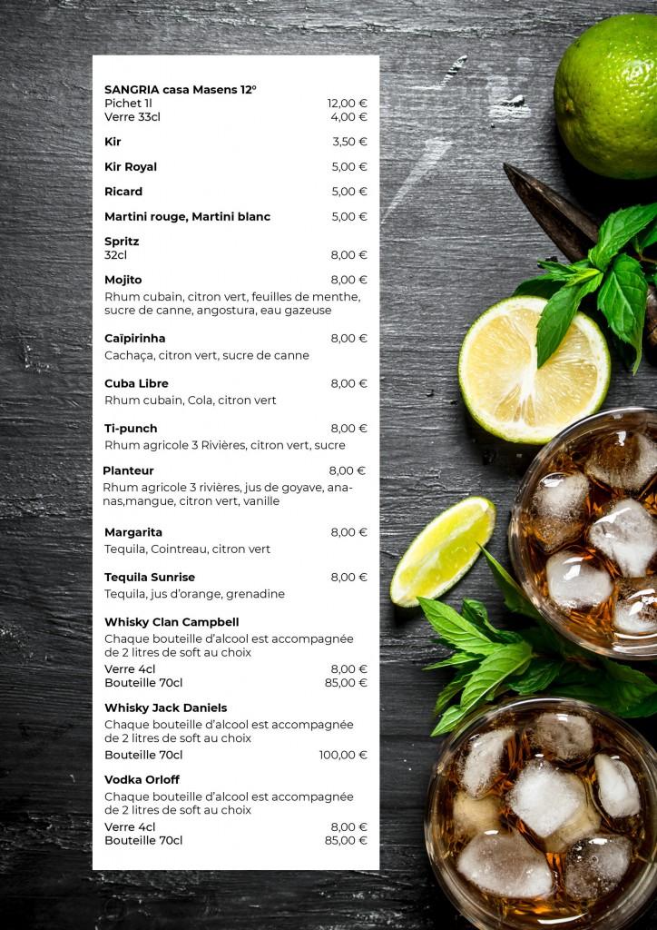 sangria et cocktails